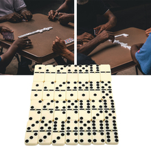 28pcs For Kids Funny Travel Portable Dot Double Six Dominoes Set Entertainment Chess Game With Box Gift Classic Toy Traditional