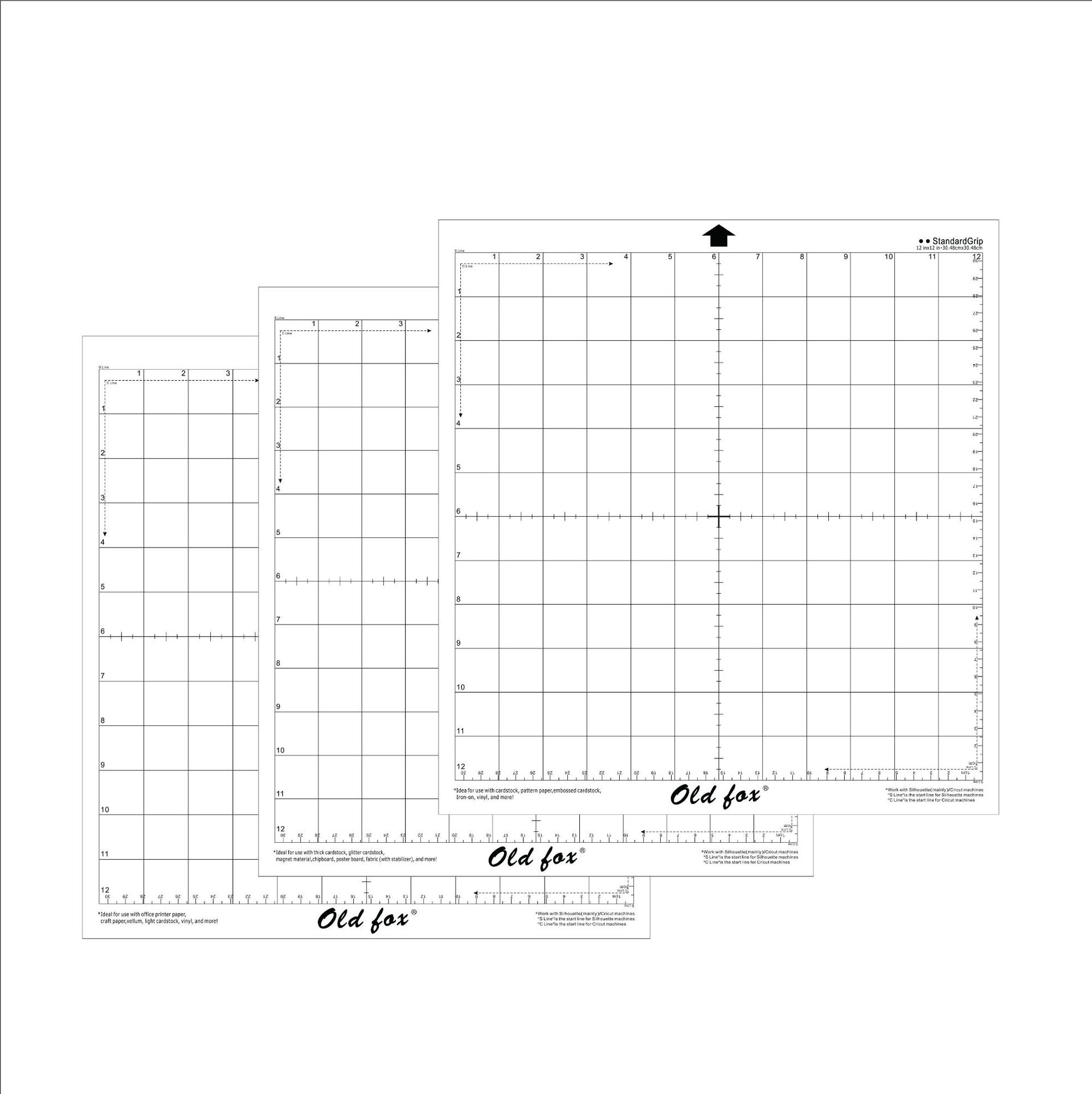 3pcs/5pcs Replacement Cutting Mat Transparent Adhesive Mat With Measuring Grid 12*12-inch For Silhouette Cameo Plotter Machine