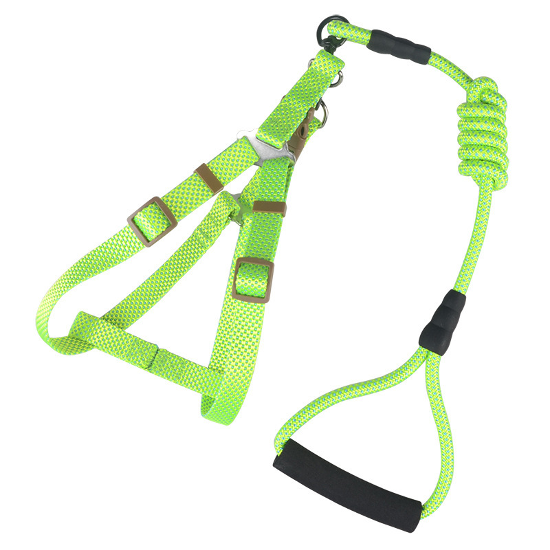 Pet Dog Traction Chest And Back Nylon Pitting Chest And Back Set Comfortable Strong Solid Durable Chest And Back Set