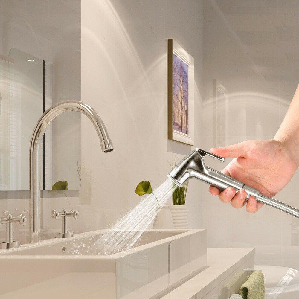 Ручной унитаз биде распылитель комплект комплект нержавеющая сталь рука биде смеситель для ванной руки распылитель душ насадка самоочистка