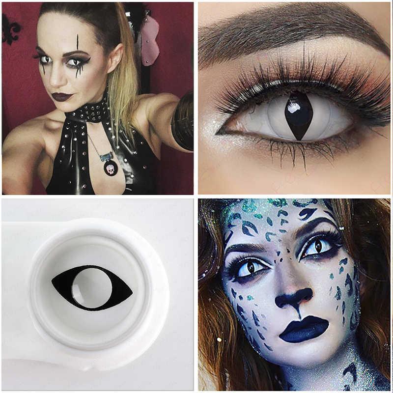 1 para Cosplay soczewki NARUTO Halloween kolorowe szkła kontaktowe dla oczu czerwone białe soczewki Anime oczy soczewki kontaktowe kolor Sharingan