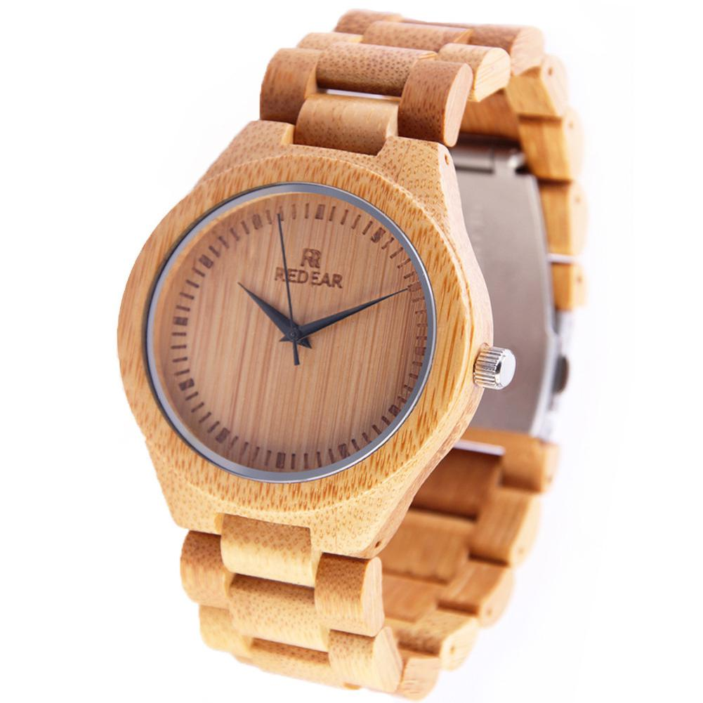 LinTimes Watches Woemn Men Wristwatches Calibration Bamboo Wood Quartz Watch For Casual Office Female Male Lovers Watches