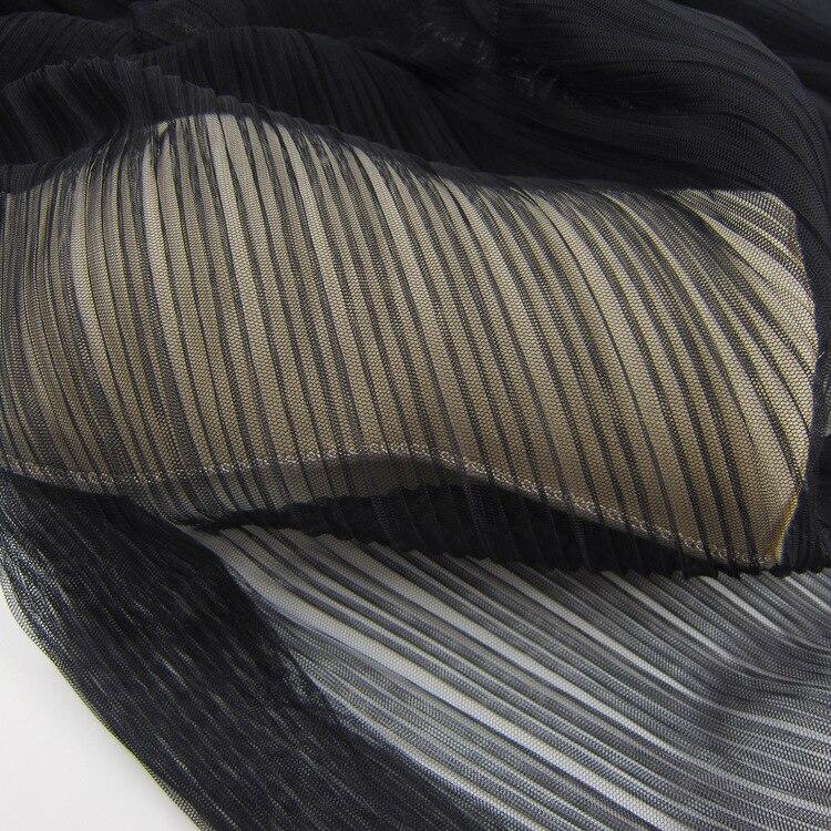Tulle Tecido Gaze Tecido Para O Vestido de Casamento Preto