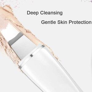 Новый ультразвуковой очиститель для лица, Очищающий кожу, перезаряжаемый шпатель для глубокого очищения лица, удаление черных точек, грязеотталкивающее масло