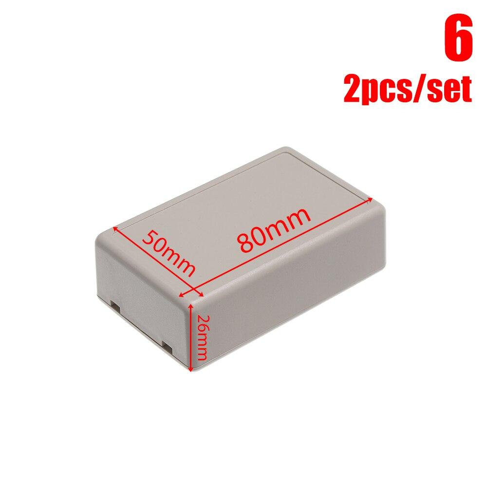 2 шт Водонепроницаемый белый/серый корпус DIY корпус прибора пластиковая коробка для АБС проект коробка ящик для хранения корпус коробки поставки