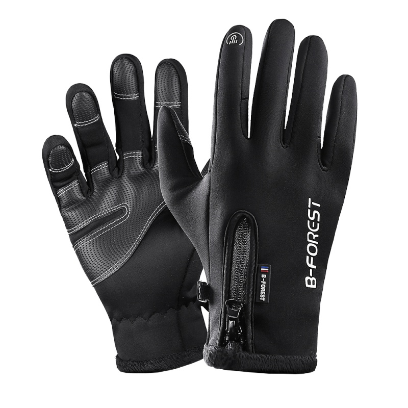 Winter Thermal Windproof Warm Touch Screen Bike Gloves  Full Finger Cycling Glove Anti slip Fleece Bicycle Gloves|Cycling Gloves| |  - title=