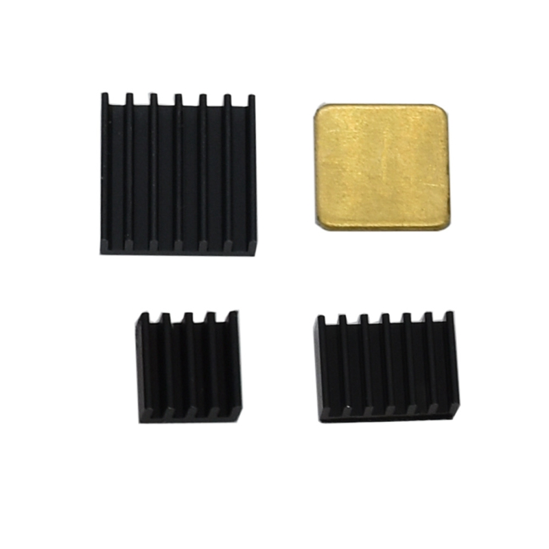 4Pcs Copper Aluminum Heatsink Cooler Kit For Raspberry Pi 4 Model B
