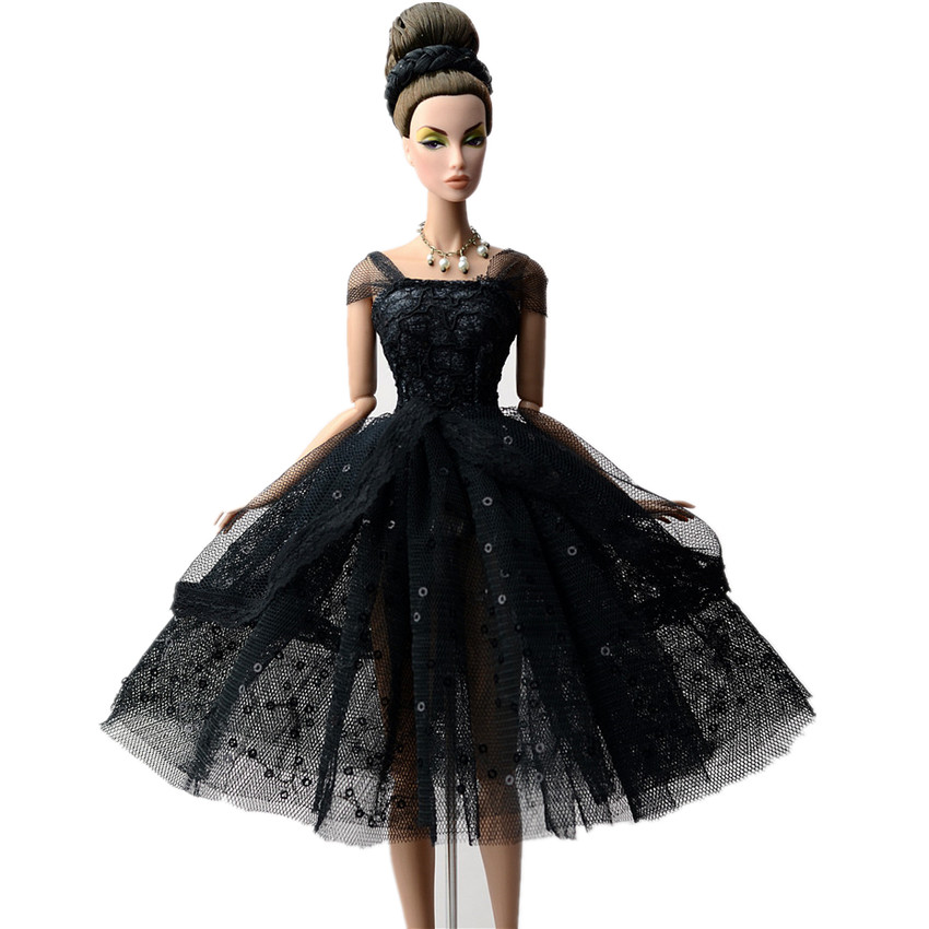 NK One Set Doll Clothes Dress Fashion Short Skirt Party Gown For Barbie Doll Accessories Girl Best Gift G036L