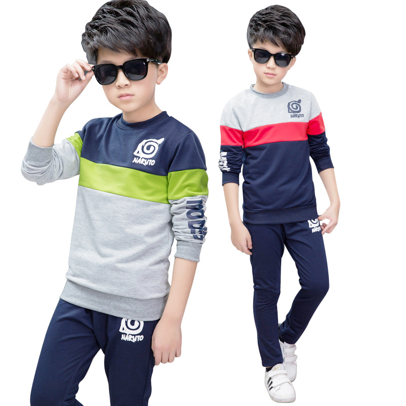 Autumn Boys Tracksuit Kids Clothes Sets Cotton T-Shirt + Pants 2 Pcs Sport Suit Children Clothes Set Costumes Outfit 2-13 Years