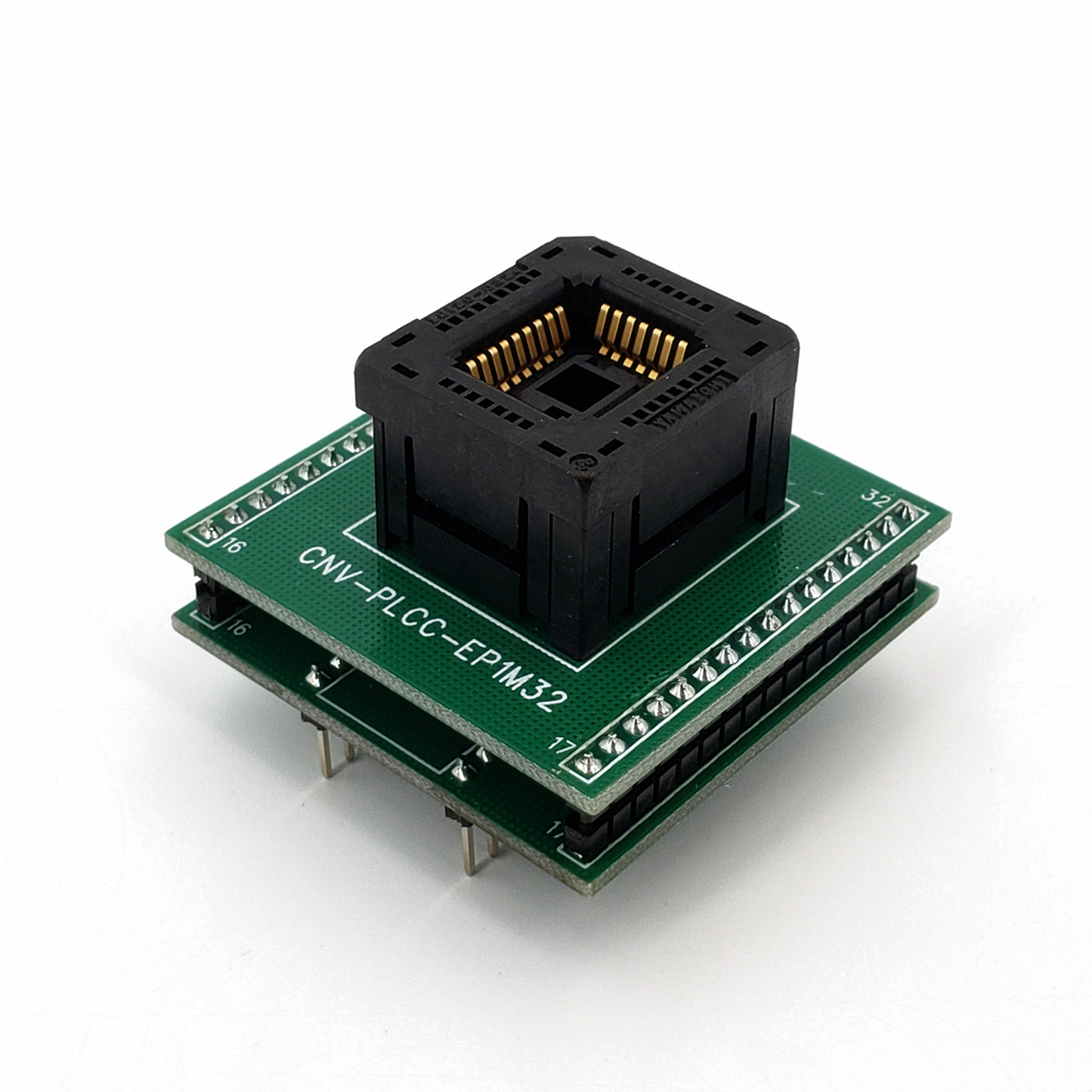 <font><b>PLCC32</b></font> <font><b>To</b></font> <font><b>DIP32</b></font> IC120-0324 Pitch 1.27mm Chip <font><b>Programmer</b></font> <font><b>Adapter</b></font> <font><b>IC</b></font> Test Socket image
