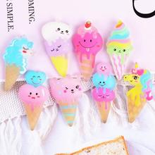 20Pcs Cute Unicorn Ice Cream Flatback Resin Cabochon Scrapbook DIY Hair Clips Phone Decor Figurine Crafts Embellishment