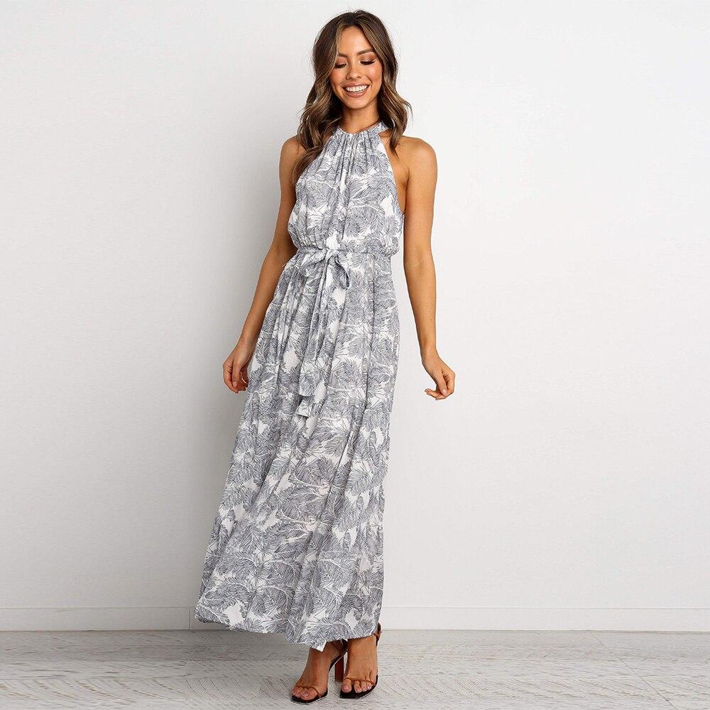 Linglewei New Spring and Summer Women's Dress halter zipper printing Street tide dress