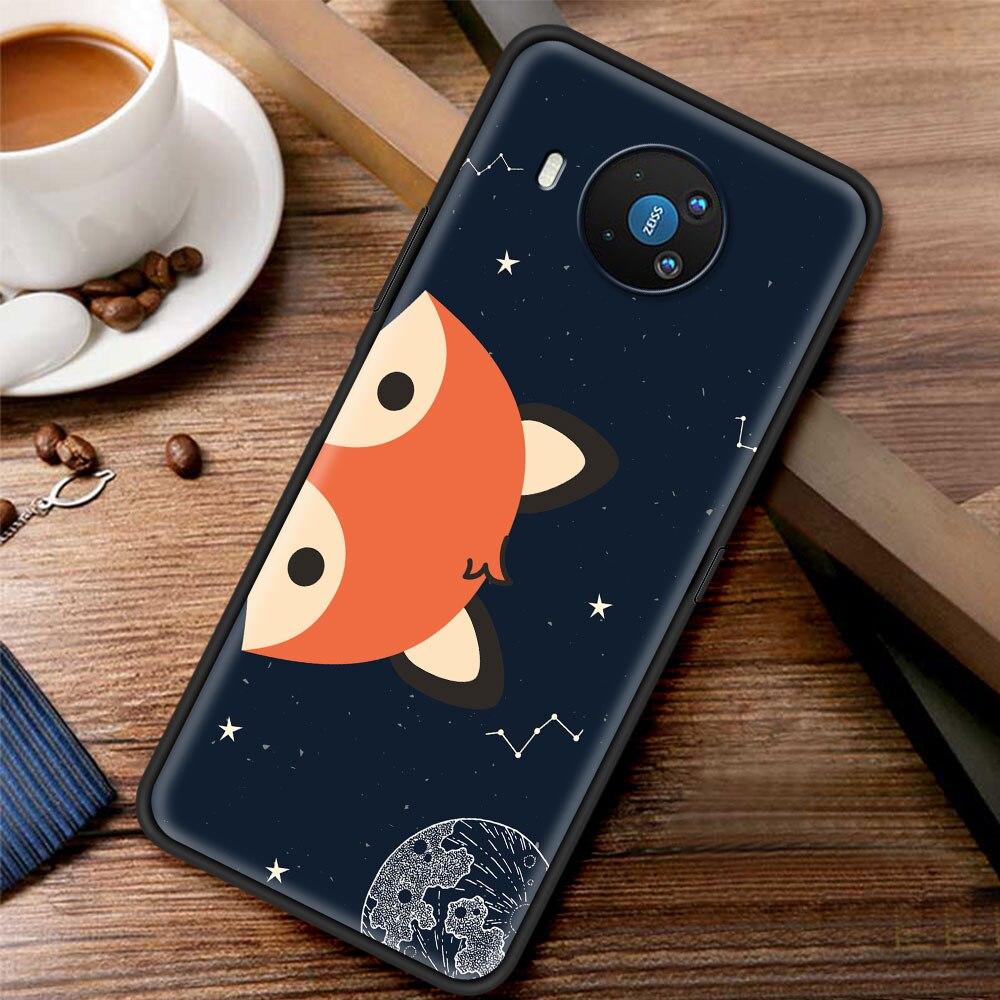 Cute Little Prince Fox Silicone Case Funda For Nokia 2.2 2.3 3.2 4.2 7.2 1.3 5.3 8.3 5G 2.4 3.4 C3 C2 Tenen 1.4 5.4 Cover Coque