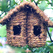Bird-House Nest Wooden Gardening-Decoration Outdoor Hanging Hummingbird Outside for Handmade