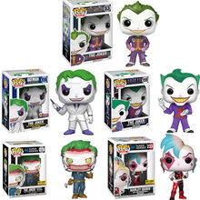 FUNKO POP DC Super Heros Suicide Squad Harley Quinn Joker Vinyl Action Figure Collectible Model Toys for Children Christmas gift(China)