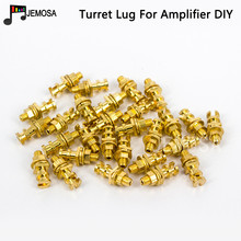 DIY Turret lug Project Audio Strip Tag Board Turret Board Terminal Lug For Tube Amplifier DIY Kit Copper Plated Gold Turret