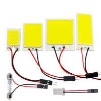 Blanco rojo azul T10 W5w Cob 24SMD 36SMD 48SMD Luz de Panel de licencia Led para coche bombilla de lectura Interior automática Luz de festón para maletero