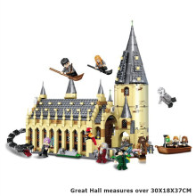 NEW Movie series 983PCS Friends City Magic World Great Hall Castle model building blocks Sets contain figures legoinglys gift(China)