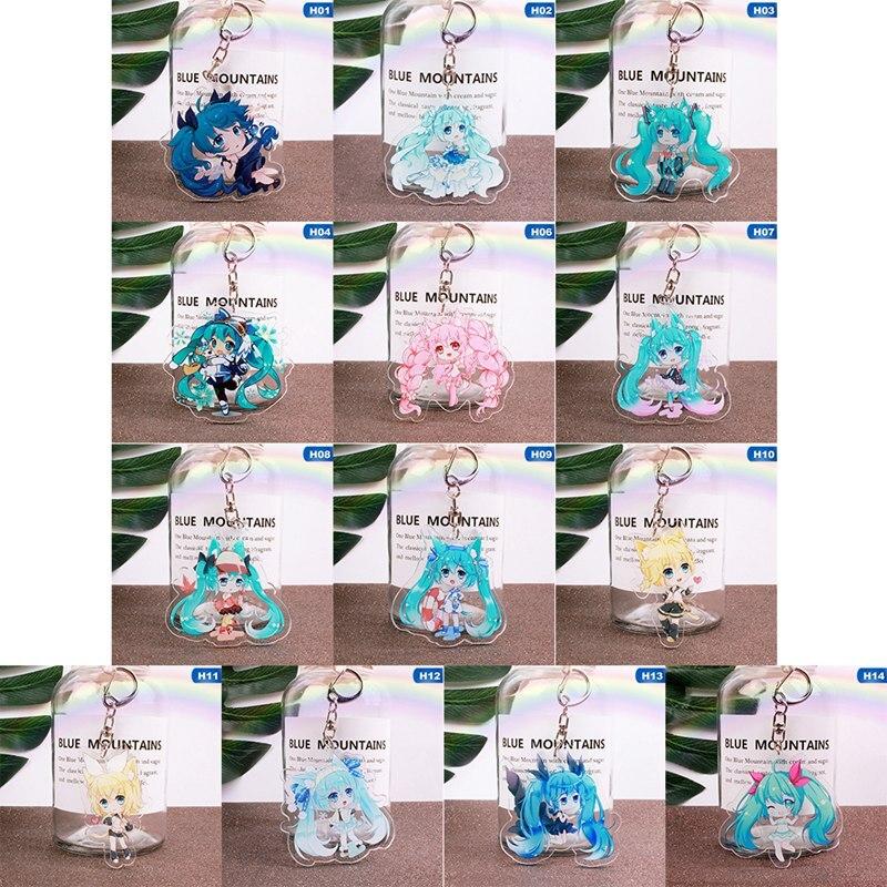 1 Pcs Hatsune Miku Girl Anime Key Chain Pvc Figure Morty Keyring Cute Toys Keychain Keyholder Birthday Gifts Unisex New