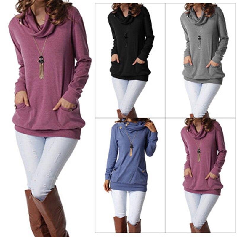 Вязаный джемпер на плоской подошве; сезон осень-зима; Женский пуловер с ворсовым воротником; свитеры с высоким воротником и длинными