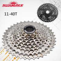 CSM990 9 speed freewheel mountain bike 11-40t cassette wide ratio Black/Silver Bicycle Cassette fit Shimano SRAM Flywheel