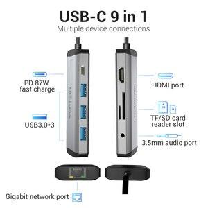 Image 2 - Drag Usb C Hub Type C Tot 4K Hdmi RJ45 Vga Usb 3.0 Hub Dock Voor Macbook Pro huawei Mate 30 USB C 3.1 Splitter Poort USB C Hub