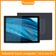 "Feosaid 12 inch industrial computer with display Wall-mounted bracket mounting CNC terminal 12"" mini PC 4GRAM 32G SDD win7 win10"