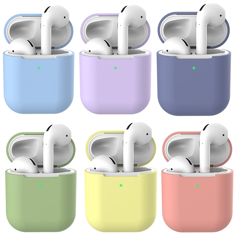 For AirPods 2 Case Protective Silicone Cover Case Shockproof Cover for Apple AirPods Wireless Headphone Charging Box Pouch Bags