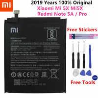 Xiao mi batterie de téléphone d'origine BN31 pour Xiao mi 5X mi 5X mi rouge mi Note 5A/Pro mi A1 rouge mi Y1 Lite S2 3000mAh Batteries + outils