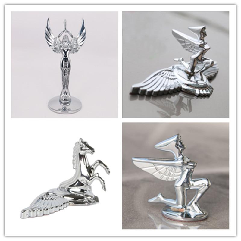 【Hot】Car Styling 21*9cm Zinc Alloy Golden Silver Horse Eagle Goddess Emblem Rear Trunk Badge Side Logos Cars Body Sticker