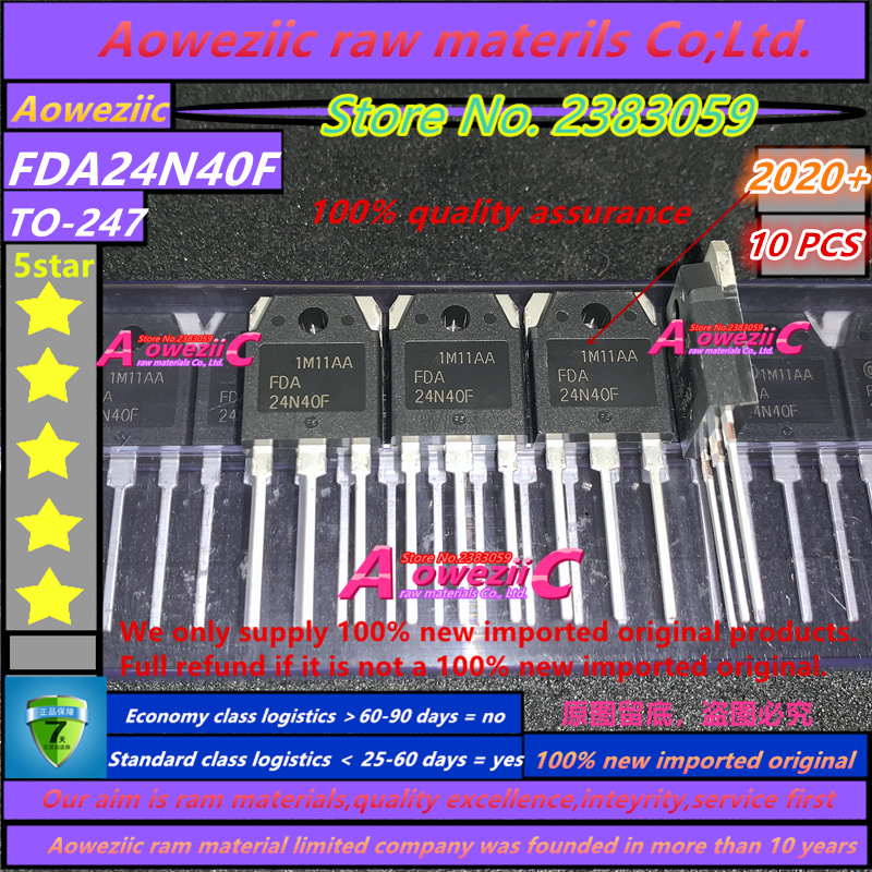 Aoweziic  2020+  100% New Imported Original  FDA24N40F FDA24N40 24N40F MOSFET 24A 400V