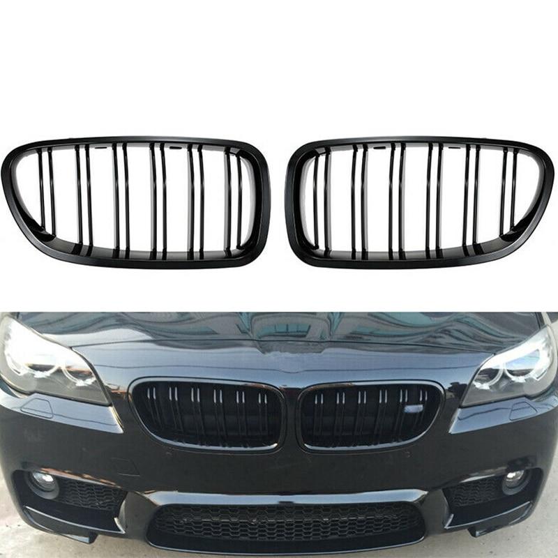 Grill Grille สีดำ Kidney Sport สำหรับ BMW F10 F18 F02 F11 M5 10-15 Dual SLAT