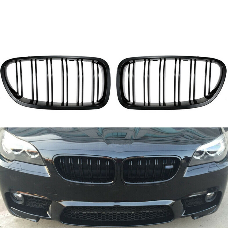 Grill Grille Gloss Black Kidney Sport for BMW F10 F18 F02 F11 M5 10-15 Dual Slat