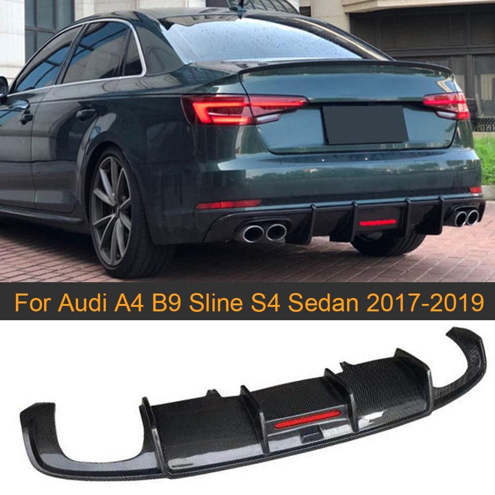 Carbon Fiber Trunk Spoiler Lip For 2017-2018 Audi A4 B9 //A4 Quattro//S4 B9 Type C