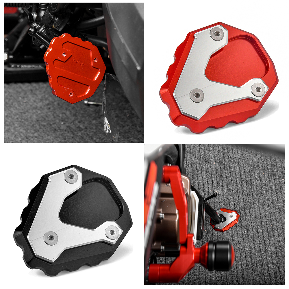 Red Motorcycle Side Stand Kickstand Support Enlarge Plate Foot Pads Accessories for 2019 2020 Honda CB500X 19-20