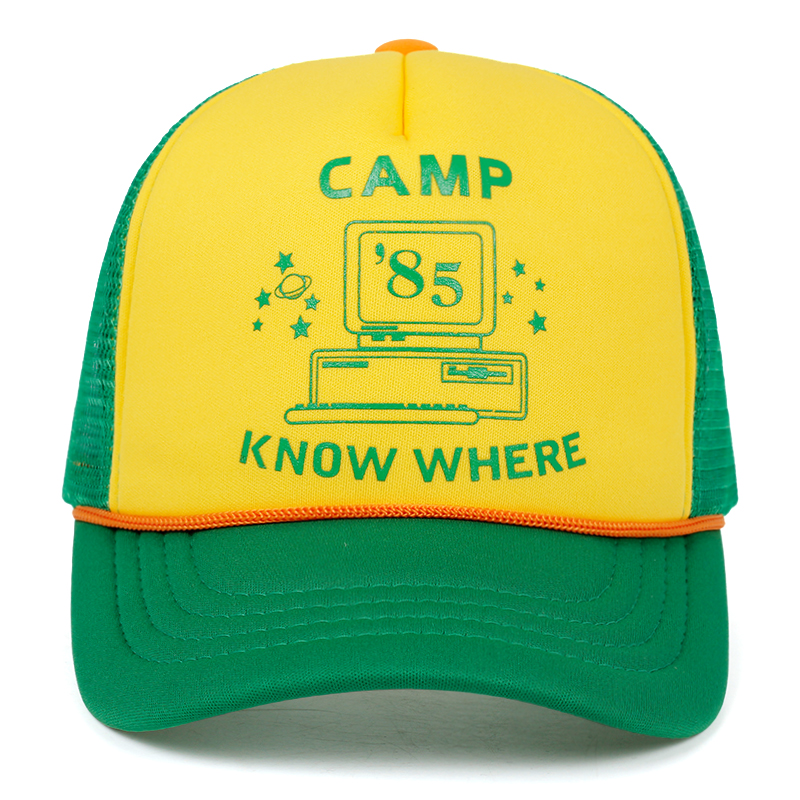 Gankchen Stranger Cosplay Things Hat Retro Mesh Snapback   Cap   85 Know Where Adjustable   Cap