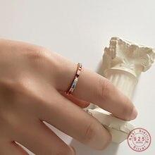 Bague en argent Sterling 925 avec diamant Pavé coloré pour femme, accessoire de mode, bijou classique de fête