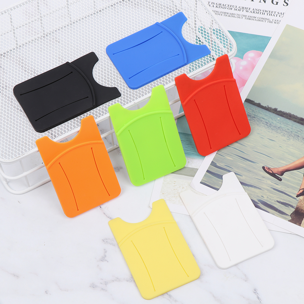 Hot Sale Fashion Adhesive Sticker Back Cover Card Holder Case Pouch For Cell Phone Card Holder Universal Cellphone Wallet Unisex