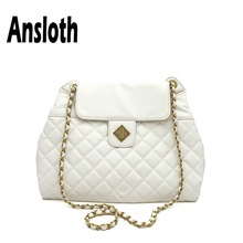 купить Ansloth Diamond Lattice Handbag Women Luxury Design Handle Bag Chain Crossbody Bag Female Solid Color Shoulder Bag Tote HPS675 по цене 1279.7 рублей