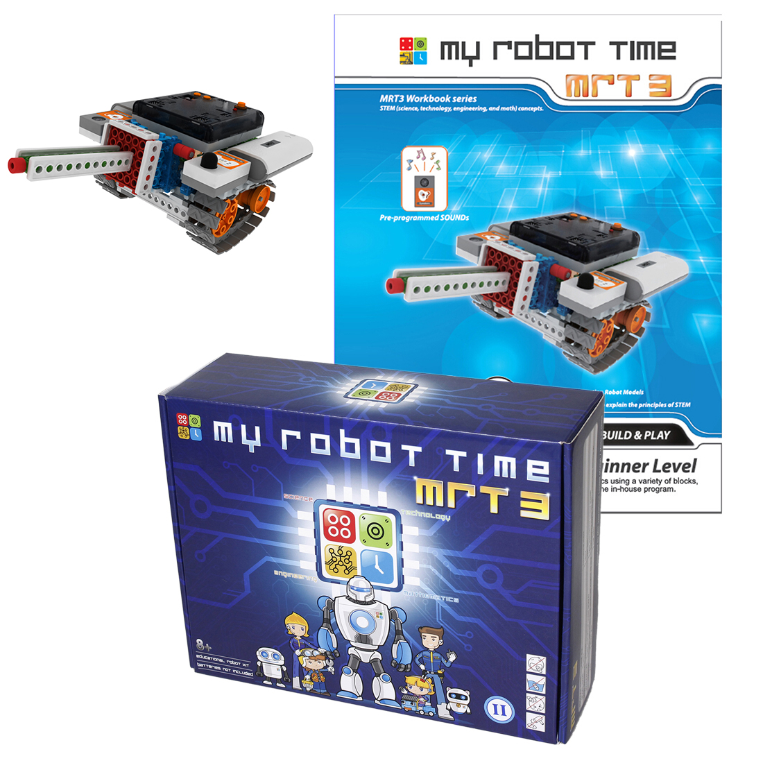 My Robot Time Programmable Multi-mode DIY Robots Building Block Assembly Robot Toy For Age 7+ Years Old (MRT 3-2 Beginner Level)