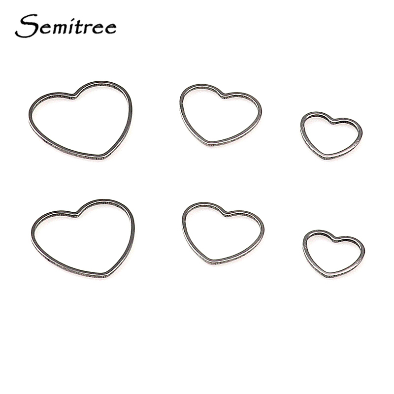 50pcs Hollow Out Heart Charms Pendant 12x10mm Tiny Beads Jewelry Findings
