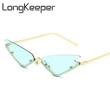 New Rimless Cat Eye Sunglasses Women Sex