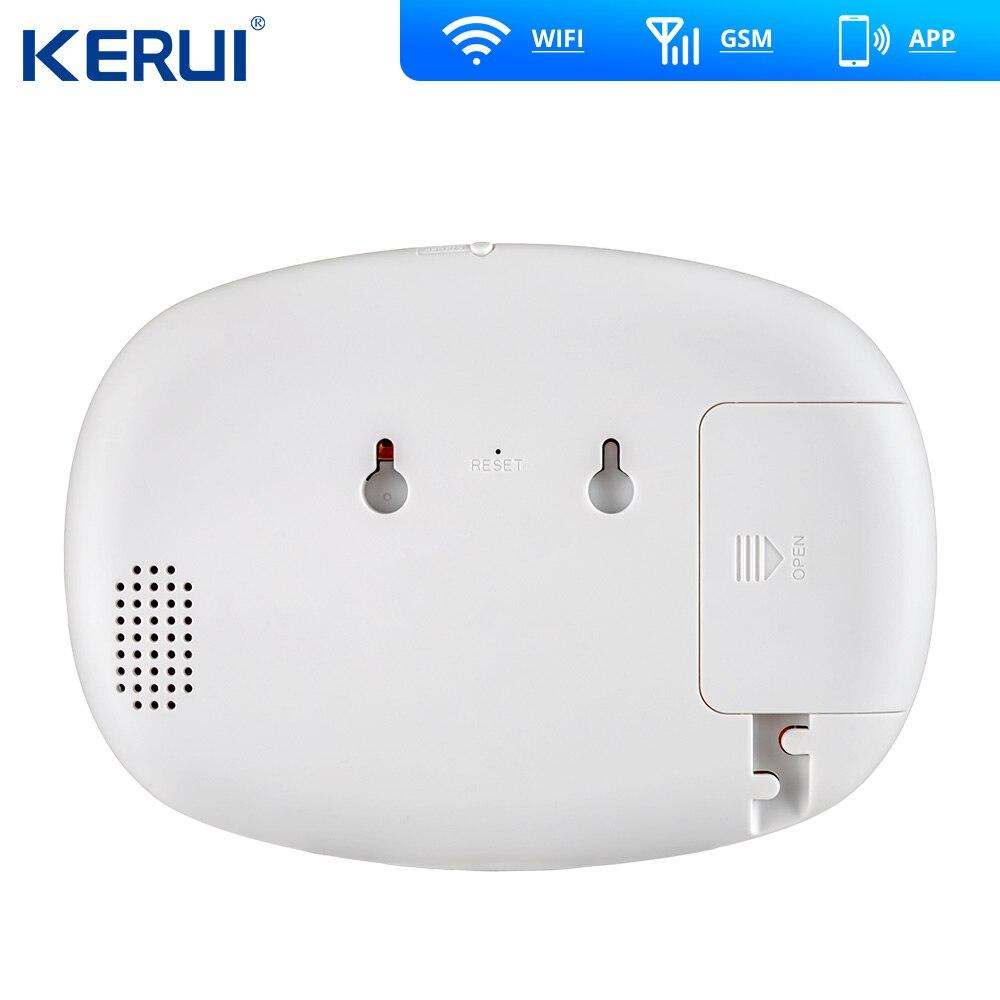 Kerui K52 grand écran tactile WIFI GSM système d'alarme TFT affichage système d'alarme à domicile sécurité détecteur de mouvement métal à distance - 4