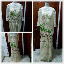 Платье невесты цвета хаки из шифона с бисером и оборками официальная