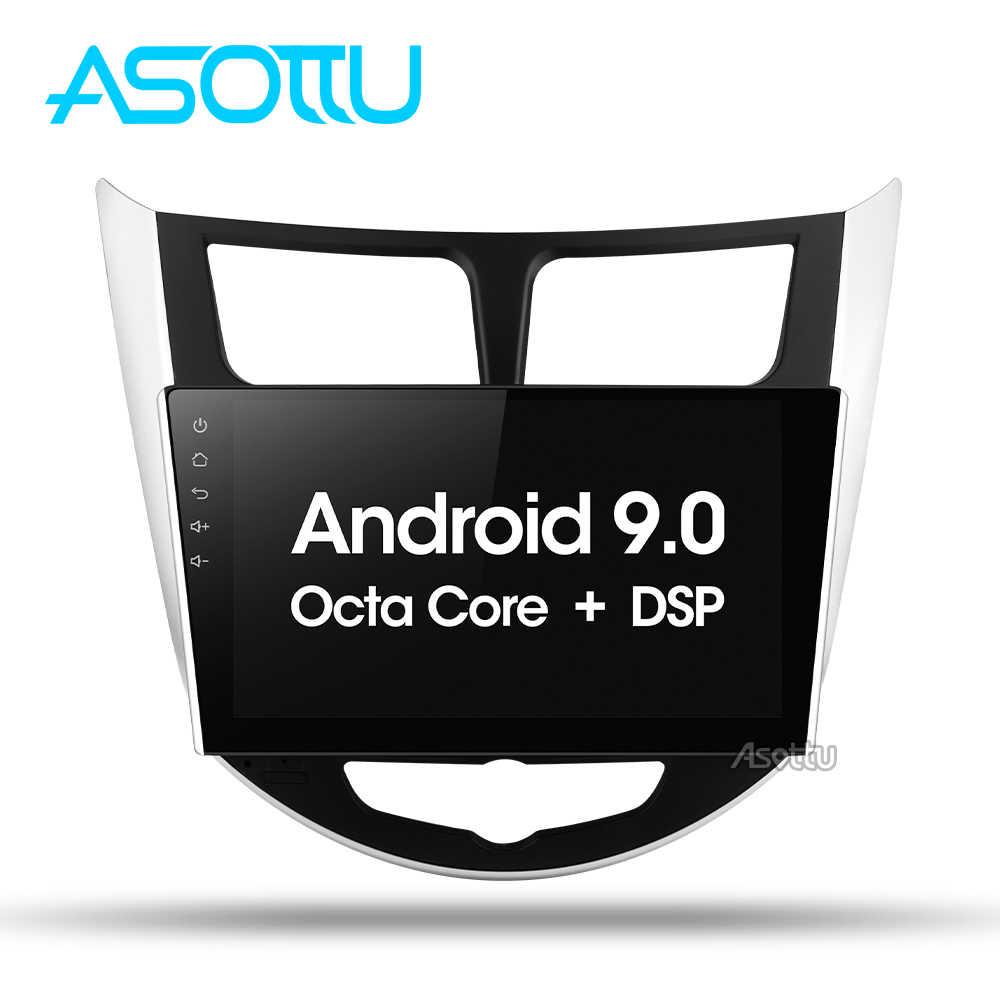 Asottu CRN9060 Android 9,0 coche dvd gps player para Hyundai Solaris Verna acento coche headunit radio player navegación gps dvd de coche