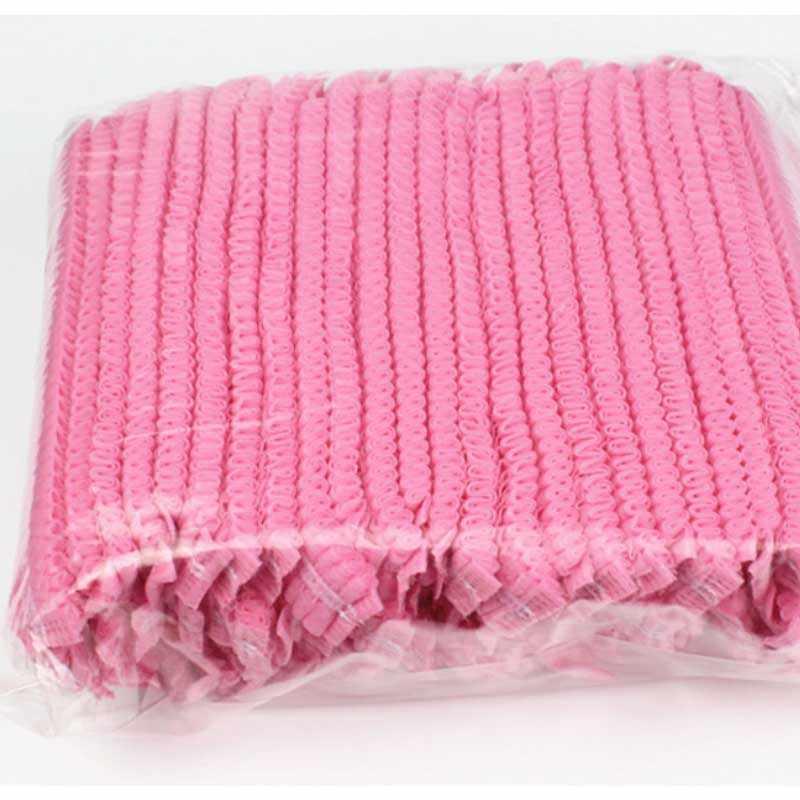 Bath Caps 100 pièces chapeau de douche jetable en plastique imperméable Transparent couleur chapeau de douche hôtel pour voyage maison une fois salle de bain produits