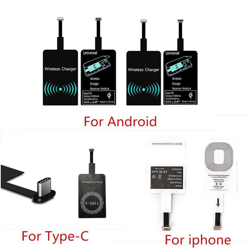 Беспроводное зарядное устройство Qi, приемник для iPhone7, 6, 6s, 7 Plus, универсальный модуль беспроводной зарядки для телефона Type-C, Micro USB