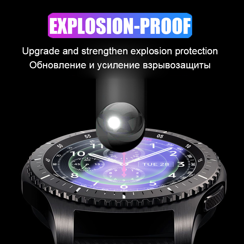 2.5D HD Protective Film For Samsung Galaxy Watch 42mm 46mm Gear S2 S4 Sport S3 Classic Frontier Screen Protector Tempered Glass 3