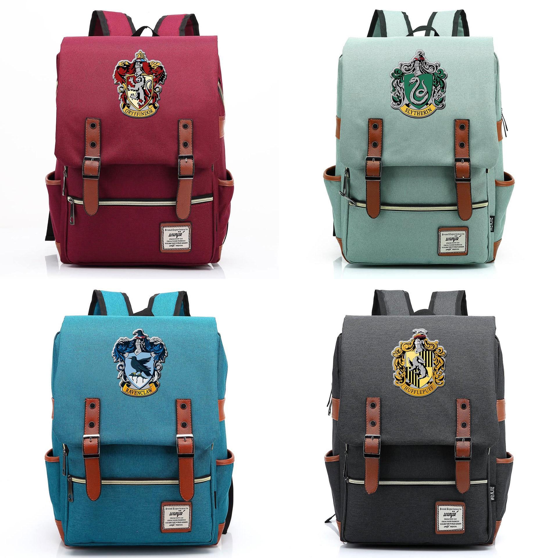 Рюкзак для косплея, 2020, мужские и женские рюкзаки для студентов, школьная сумка Хогвартс, Поттер, пуффендуй, Когтевран, Слизерин, школьная сумка