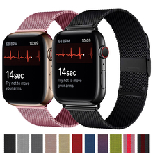 Milanese loop Strap For apple watch band 44mm 40mm iwatch band 42mm 38mm metal bracelet correa apple watch series 6 se 5 4 3 2 1